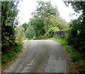 SO3205 : Across Penwern Lane bridge near Penperlleni  by Jaggery