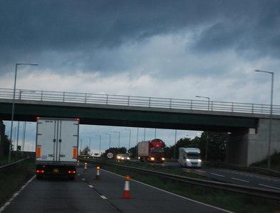 SK9323 : A1, A151 overbridge by N Chadwick