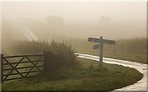 SE9346 : Holme Wold road junction by Paul Harrop