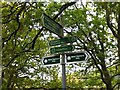 NS5476 : Footpath signs in Mugdoch Country Park by Jim Barton