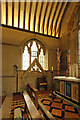 TQ4418 : St Margaret of Antioch, Isfield - Easter sepulchre by John Salmon