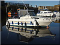 NT6879 : Coastal East Lothian : White And Blue Reflection At Cromwell Harbour, Dunbar by Richard West