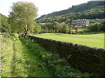 SE0125 : Hebden Royd Path 54 passing the recreation ground by Humphrey Bolton
