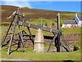 NS8713 : The old beam engine at Wanlockhead by Oliver Dixon