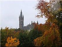 NS5766 : Glasgow University tower from Kelvingrove Park by Jim Barton