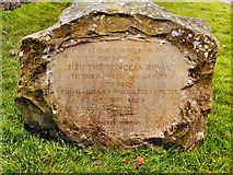 NY6166 : Commemorative Stone, Birdoswald by David Dixon
