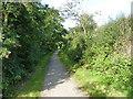SW6845 : Portreath Tramroad, looking west by Richard Law