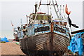 TQ8209 : Derelict boat at Fishermen's Stade by Oast House Archive