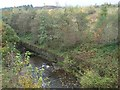 SO1008 : The River Rhymney looking down river by Robin Drayton