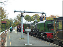 SH5848 : Watering the (iron) horse - Beddgelert Station by Chris Allen