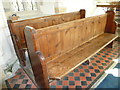 SY7699 : Inside St Martin, Cheselbourne (L) by Basher Eyre