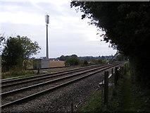 TM3863 : Railway Line & Telecommunication Mast by Geographer