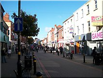 J2664 : View west along the pedestrianised section of Bow Street, Lisburn by Eric Jones