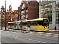 SJ8497 : Metrolink Tram, London Road by David Dixon