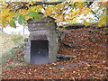 NS8979 : Ice house entrance at Callendar Park by M J Richardson