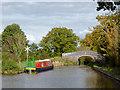 SJ6151 : Mooring by Stoneley Green Bridge near Ravensmoor, Cheshire by Roger  Kidd