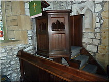 SY5697 : SS Andrew & Peter, Toller Porcorum: pulpit by Basher Eyre