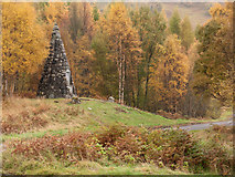 NN6557 : War memorial at east end of Loch Rannoch by Trevor Littlewood