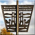 SJ8690 : Welcome to Heaton Mersey by David Dixon