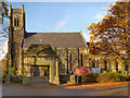 SJ8690 : St John The Baptist's Church, Heaton Mersey by David Dixon