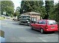 SO1739 : Canoes on a trailer near Glasbury Bridge, Glasbury by Jaggery