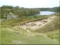 SR9794 : Bosherston lily pond from the dunes by Gordon Hatton