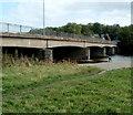 SO1839 : South side of Glasbury Bridge by Jaggery
