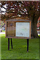 SU6512 : Parish Noticeboard, The Green, Denmead by Peter Facey