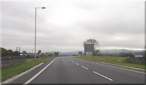 SH5639 : A487 east from Bodawen roundabout by John Firth