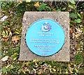 SJ9799 : Blue plaque: John Bradbury (1768-1825) by Gerald England