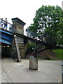 TQ2481 : Stairway from the Grand Union Canal Paddington Branch up to Great Western Road by Alexander P Kapp