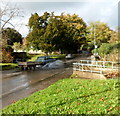 ST5678 : Driving through a minor flood on Henbury Road, Bristol  by Jaggery