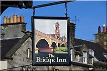 NT2540 : Bridge Inn sign, Peebles by Jim Barton