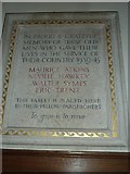 SY7190 : St Michael, Stinsford: war memorial (1939-45) by Basher Eyre