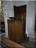 SY7190 : St Michael, Stinsford: pulpit by Basher Eyre