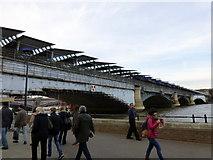TQ3180 : Blackfriars Railway Bridge by PAUL FARMER