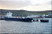 HU4642 : MV Hildasay at Holmsgarth pier, Lerwick by Mike Pennington