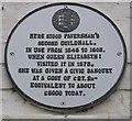 TR0161 : Plaque on Shelter Shop, Faversham by David Anstiss