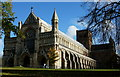 TL1407 : St Albans Cathedral by Peter Trimming