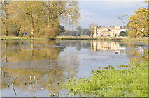 SO8844 : Croome Court reflected in Court River by Philip Halling