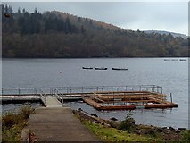 SK2086 : Fishing jetty, Ladybower Reservoir by Andrew Hill