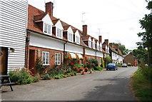 TQ9293 : Row of cottages, Paglesham Churchend by N Chadwick