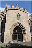 SK9136 : South Porch, St Wulfram's church, Grantham by J.Hannan-Briggs
