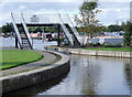 SJ6153 : Swanley Bridge Marina entrance, Cheshire by Roger  Kidd
