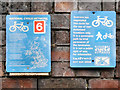 SJ8894 : National Cycle Network Signs by David Dixon