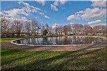 TQ4667 : Pond, St Mary Cray by Ian Capper