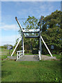 SJ5948 : Wrenbury Church Lift Bridge, Cheshire by Roger  Kidd