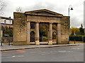 SJ9698 : Stalybridge Town Hall Portico by David Dixon