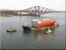 NT1279 : AMT Trader passes North Queensferry by M J Richardson
