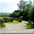 SN6930 : Livestock pens near Llansadwrn by Jaggery